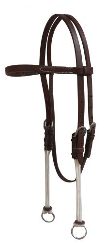 Showman Leather Gag Headstall