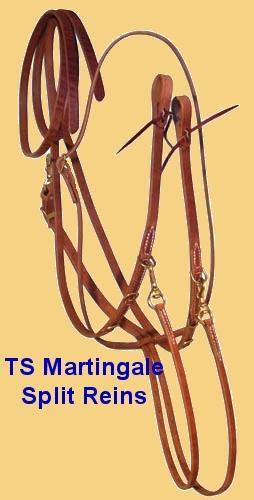 TS German Martingale Split Reins