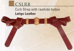 Curb Strap with Rawhide Button