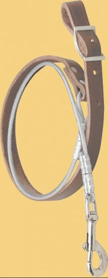 Leather Steel Cable Tie Down