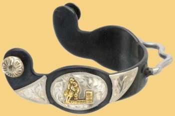 Gold Barrel Motif Bumper Spurs