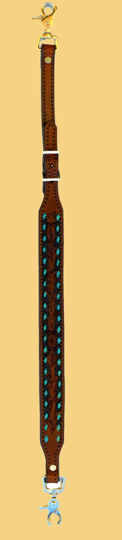 Wither Strap Turquoise Buckstitch