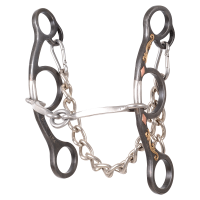 Diamond Short Shank O Ring Square Snaffle