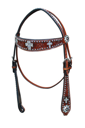Crystal Cross Headstall