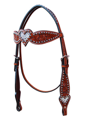 Crystal Heart Headstall
