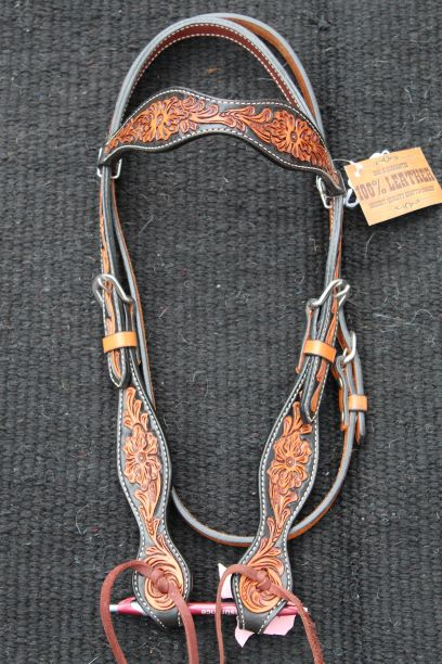 Antique Floral Headstall