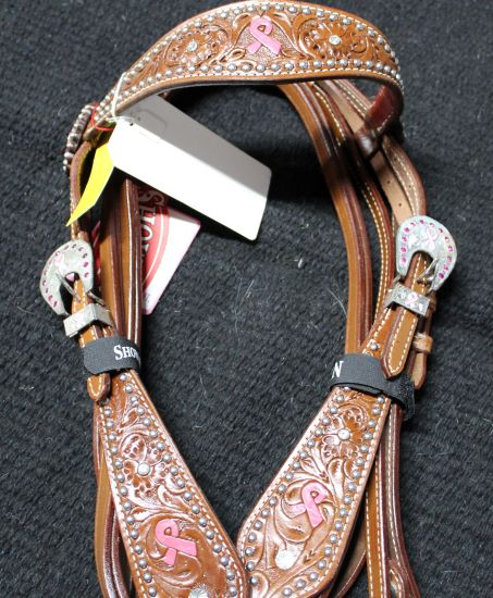 Breast Cancer Awareness Tack Set w/Reins