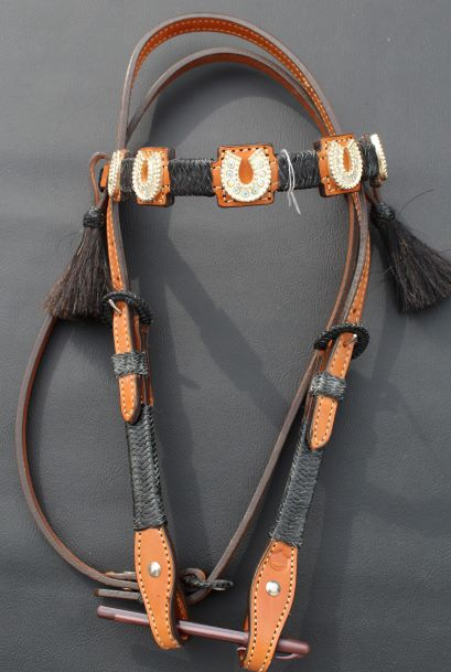Crystal Horseshoe Headstall
