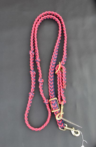 The Tack Stop Reins – Red & Blue 2 Snap