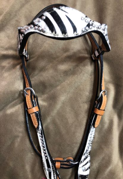 Zebra Headstall with Browband