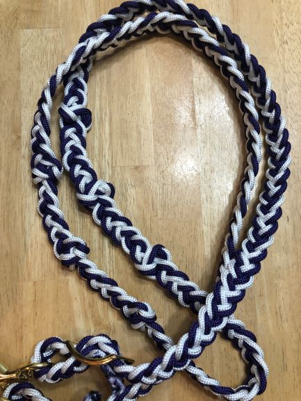 The Tack Stop Reins – Purple & White