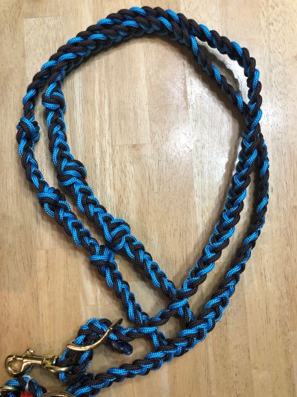 The Tack Stop Reins – Turquoise & Brown