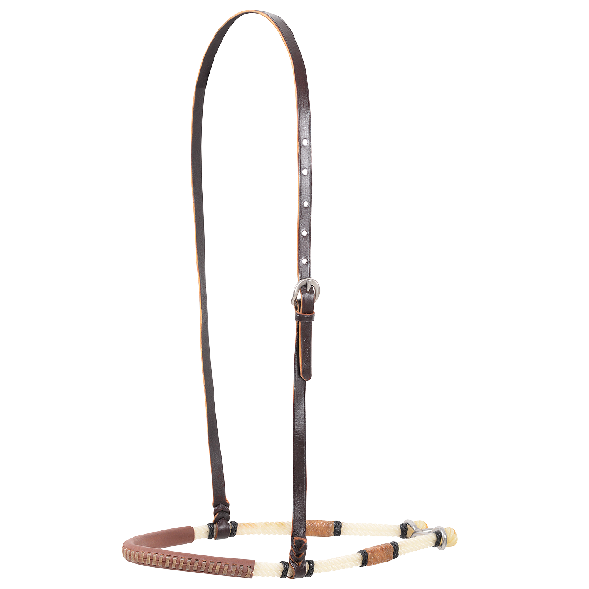 Double Rope with Rawhide Knots & Leather Cover