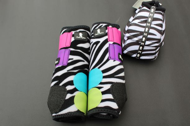 Zebra Boot & Bell Boot Set