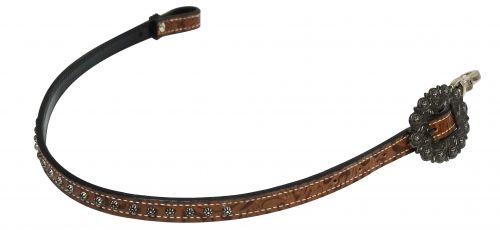 Brown Filigree Print Wither Strap
