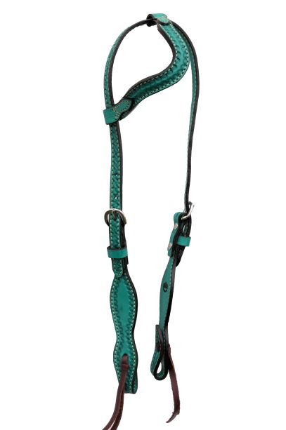 Wave Style Turquoise One Ear Headstall