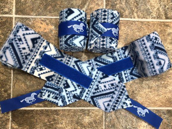 Blue Aztec Polo Wraps