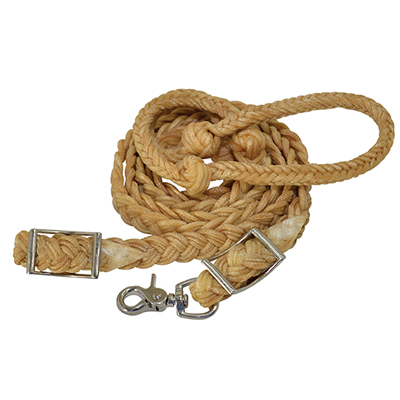 Knotted Wax Nylon Barrel Reins