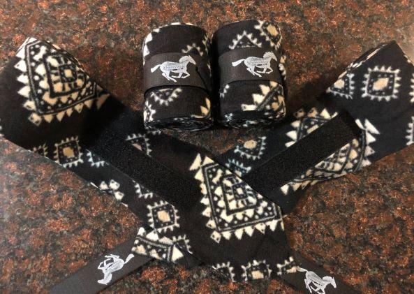Black & Tan Aztec Polo Wraps