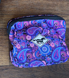 WhinneyPack – Pommel Pack – Purple & Pink Paisley