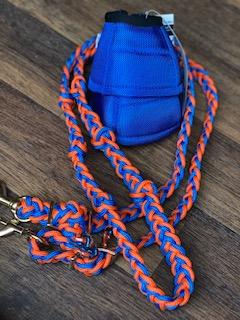 Tack Stop 2 Snaps Orange & Blue