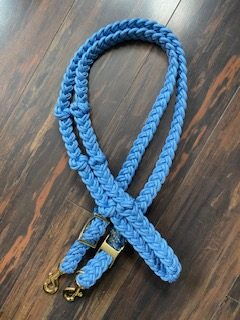Tack Stop Reins Light Blue 2 Snaps