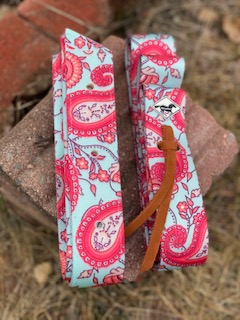 WhinneyWear Red Floral/Paisley Cinch Set