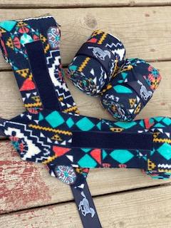 WhinneyWear Navy Aztec Polo Wraps