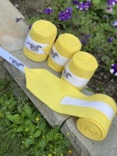 WhinneyWear Yellow Polo Wraps – Set of 4